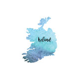 Abstract Ireland map Royalty Free Stock Photos