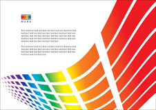 Abstract iridescent template Royalty Free Stock Photos