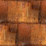 Abstract iron square sheet rust seamless pattern Royalty Free Stock Photography