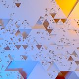 Abstract Irregular Futuristic architectural pattern, triangles 3d illustration background.  Royalty Free Illustration