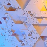 Abstract Irregular Futuristic architectural pattern, triangles 3d illustration background.  stock illustration