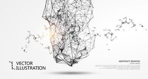 Abstract irregular graphic. Abstract irregular graphic, network connections Vector Illustration