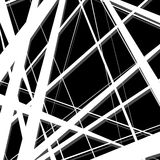 Abstract, irregular lines pattern, background. Monochrome geomet Royalty Free Stock Photos