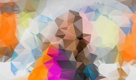 Abstract irregular polygon background with a triangle pattern in. Full multi color - low poly Stock Photography