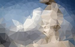 Abstract irregular polygon background with a triangle pattern in. Full multi color - low poly stock illustration