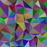 Abstract triangle tiled mosaic background - polygonal vector design from triangles in colorful tones Stock Photo