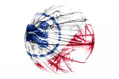 Abstract Irving, Texas sparkling flag. American Christmas ball concept isolated on white background. Abstract Irving, Texas sparkling flag. American Christmas stock illustration