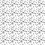 Abstract Islamic seamless pattern.  illustration. For modern design. Black and white color Royalty Free Stock Photo