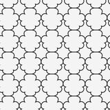 Abstract Islamic seamless pattern.  illustration. For modern design. Black and white color Stock Image
