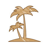 Abstract island icon image Royalty Free Stock Photos