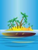An abstract island in the sea Stock Photos