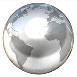 Abstract isolated 3d globe. Abstract isolated globe 3d illustration Royalty Free Stock Photos