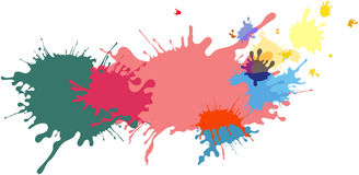 Abstract isolated colorful paint and splatter background Stock Photography
