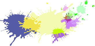 Abstract isolated colorful pastel paint and splatter background Stock Image