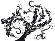 Abstract isolated flourish royalty free illustration