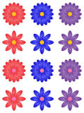 Abstract isolated flower, petal with curl, red blue violet flower. Abstract isolated flower, petal with curl, red blue violet vector flower Royalty Free Stock Photo