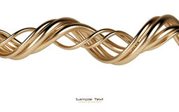 Abstract isolated gold lines background Royalty Free Stock Photography