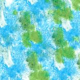 Abstract isolated Green, dark blue watercolor stain raster illu stock photography