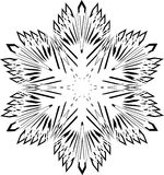 Abstract isolated vector snowflake Royalty Free Stock Image
