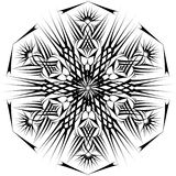 Abstract isolated vector snowflake Royalty Free Stock Images