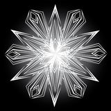 Abstract Isolated Vector Snowflake Stock Photo