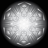 Abstract isolated vector snowflake Stock Image