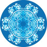 Abstract isolated vector snowflake Royalty Free Stock Photo