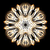 Abstract isolated vector snowflake Stock Photography