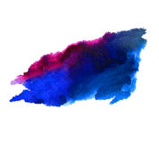 Abstract isolated watercolor stain wet  texture Stock Images