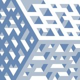 Abstract isometric background of geometric shapes. Three-dimensional forms. Royalty Free Stock Photo