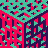 Abstract isometric background of geometric shapes. Three-dimensional forms. Stock Photography