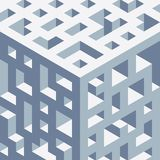 Abstract isometric background of geometric shapes. Three-dimensional forms. Royalty Free Stock Photos