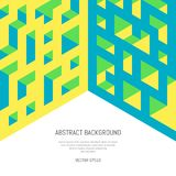 Abstract isometric background of geometric shapes. Three-dimensional forms. Royalty Free Stock Images