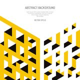 Abstract isometric background of geometric shapes. Three-dimensional forms. Royalty Free Stock Photography