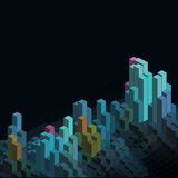 Abstract isometric blocks background. Abstract background with isometric blocks design royalty free illustration