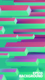 Abstract isometric boxes 3d background. Vector cubes pattern. Bright illustration. Web banner Royalty Free Stock Images