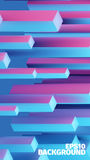 Abstract isometric boxes 3d background. Vector cubes pattern. Contrast illustration. For web or printing Royalty Free Stock Image