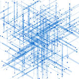 Abstract isometric computer generated 3D blueprint Royalty Free Stock Photography