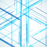 Abstract isometric computer generated 3D blueprint Royalty Free Stock Image