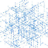 Abstract isometric computer generated 3D blueprint Royalty Free Stock Photos