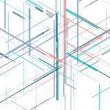Abstract isometric computer generated 3D blueprint Stock Images