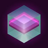 Abstract isometric cube for design. Vector eps10 Stock Image
