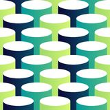 Abstract isometric 3d circle pattern background Royalty Free Stock Image