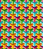 Abstract isometric 3d colorful pattern background Royalty Free Stock Photography