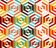 Abstract isometric 3d hexagon pattern background Stock Photography