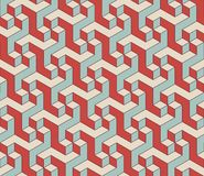 Abstract isometric 3d seamless pattern background Royalty Free Stock Photography
