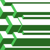 Abstract isometric green  background. Royalty Free Stock Photos
