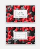 Abstract isometric logotype. Abstract isometric set logotype dimensional 3D shape template for business cards, invitations, presentations and printing Stock Photos