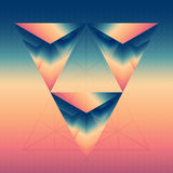Abstract isometric prism with the reflection of the space and lo Stock Photos
