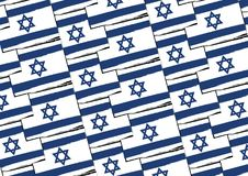 Abstract ISRAEL flag or banner. Vector illustration Royalty Free Stock Photos